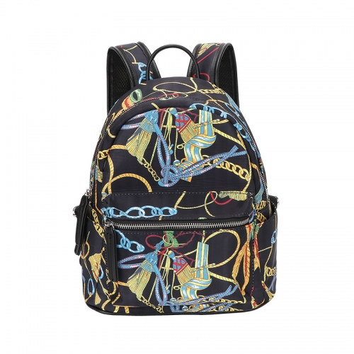 PU2466 2021 New European and American Fashion Trend Graffti printed backpack large capacity school bags