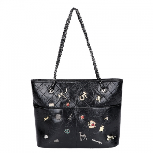 PU2469 2021 New Stylish Design Large Capacity Tote Bag Fashion Women Shoulder Chain Bag