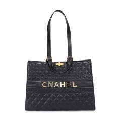 PU2474 Winter new style soft tote handbag embroidery fashion large capacity shopping bag for women