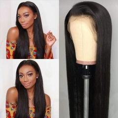 Straight Full Lace Wig Brazilian Full Straight Wig 180% Density Pre-Plucked Hairline With Baby Hair