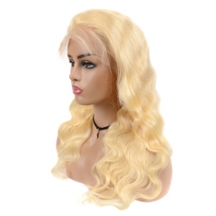 613 Blonde Pre Plucked Glueless Frontal Lace Wigs Transparent Body wave Human Hair Wigs