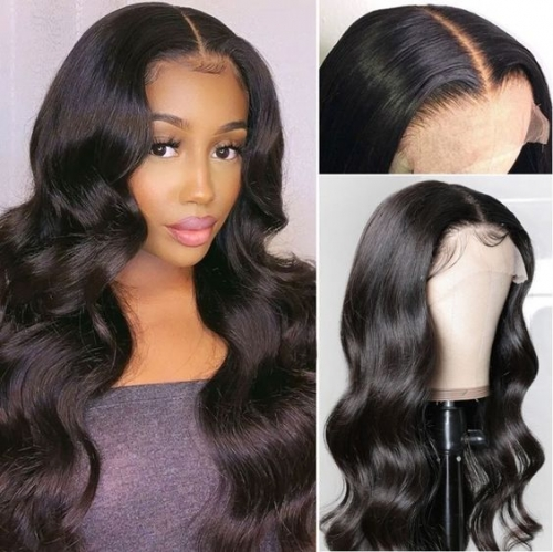 BORUI Hair Body wave 250% density 5x5 HD Closure wig Human hair pre pluceked HD lace wig