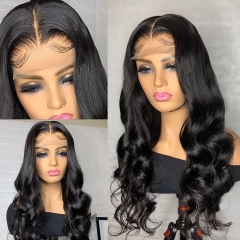 BORUI Hair 13x4 Swiss HD Frontal Lace Wigs Body Wave 180% Density Thin Invisable HD Wigs