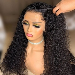 30% OFF UNDETECTABLE LACE INVISIBLE KNOTS BEST VIRGIN HAIR 13X4 HD LACE FRONTAL WIG