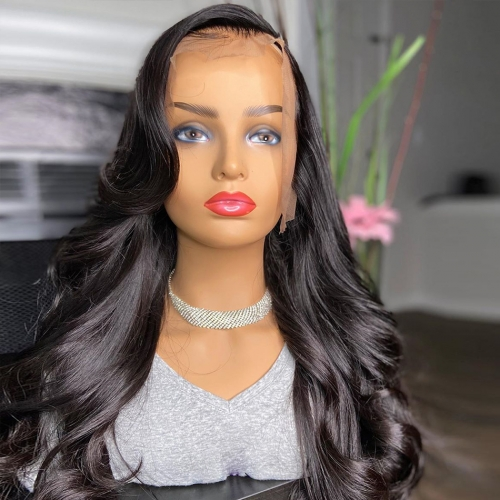 Brazilian Hair Loose Wave Lace Front Wig 180% density Virgin Cuticle Aligned Human Hair 13x4 Lace Wig