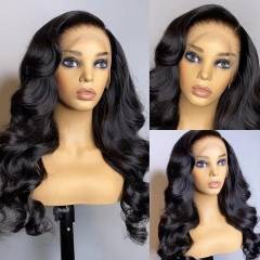 BORUI HAIR 250% Density Transparent Lace 13x4 Brazilian Virgin Hair 13x4 Lace Front Wig Body Wave