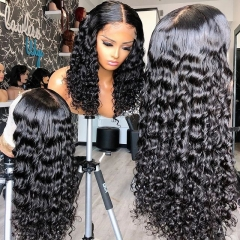 Brazilian Deep Curly 13x4 Lace Wigs 26 28 30Inch Deep Wave Long Frontal Wig For Black Women