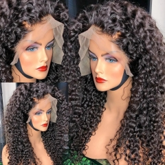 BORUI HAIR Single Knot 250% Density Lace Front Wig 13X4 Pre plucked Hairline Deep Curly Wig