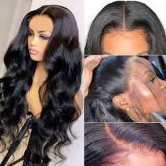 13X4 Lace Frontal Wig Pre Plucked With Baby Hair Body Wave  Human Hair Wigs 180% Density
