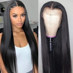 BORUIHAIR Straight Lace Closure Wigs 4X4 Closure Wig Human Hair Wigs With Baby Hair Brazilian Lace Front Human Hair Wigs