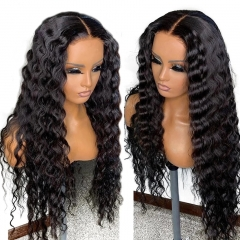 Brazilian 4X4 Lace Closure Wig Deep Curly Wig Human Hair Wigs Lace Wig Pre-Plucked With Baby Hair