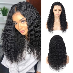 BoRuiHair 4x4 Lace Closure Wig Brazilian Water Wave Lace Front Human Hair Wigs For Black Women