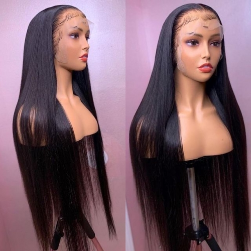 BORUI HAIR 13X4 HD lace Frontal Wig Straight 180% density wig Ear to Ear HD lace wig