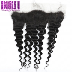 Borui Loose Deep Lace Frontal 13*4 Lace Frontal 10A Virgin Remy Human Hair