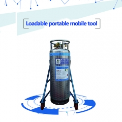 Portable cylinder shelf