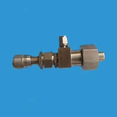 Stainless steel needle sampling valve