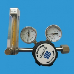 Stainless steel single stage pressure reducer (with flow meter)