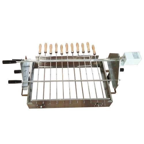 BBQ Cypriot kebab skewers top set Rotisserie with motor power