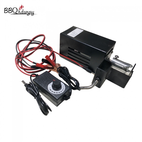 Spit rod kits used bbq DC 12V motor load capacity 50KG connect AC adaptor cord