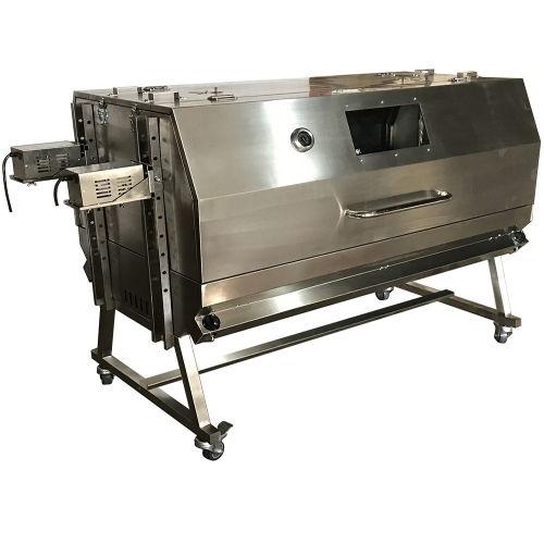 Double Location BBQ Spit Roaster 2 Spit Grill Gas Pig 2 Spit Roaster