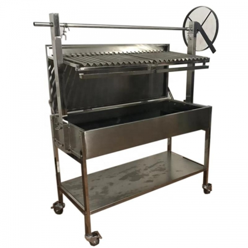 Adjustable traditional Asado bbq rotisserie argentine parrilla bbq grill