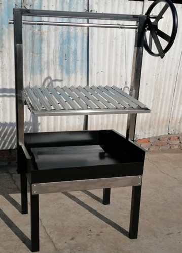 Commercial Charcoal BBQ with Argentinian Grill Height Adjustment