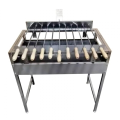 Small protable BBQ grill Charcoal Spit Rotisserie Cyprus Grill Stainless Steel Foukou Rotisserie