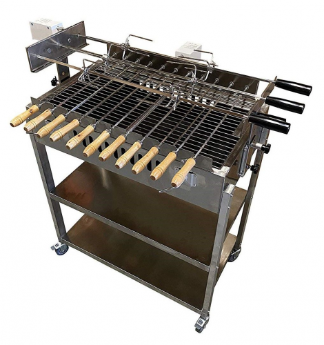 Brazilian Greek Stainless Steel Cypriot Rotisserie BBQ Grill Barbecue Machine