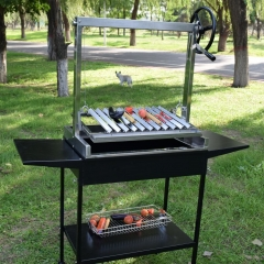2020 yeas charcoal BBQ grill new stype auto rotating skewer grill and argentine parrilla santa maria grill