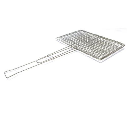 New Product BBQ tool square stainless steel Net Grilling Basket Barbecue Accessorie