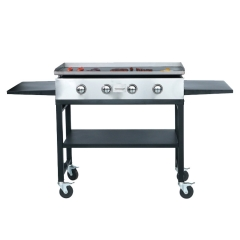 Indoor Commercial Gas BBQ Flat Grill 4 Burners Plancha Gas Grill