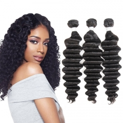 Kbeth Loose Deep Wave 3 Bundles/Packet Soft Brazilian Hair