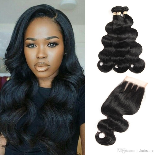 Kbeth Malaysian Hair 3pcs Body Wave With 4*4 Lace Closure