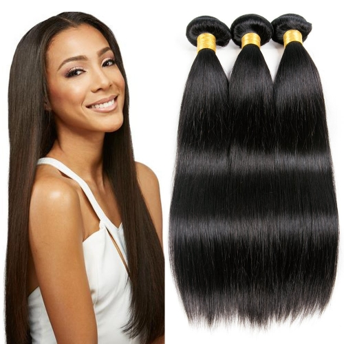 Kbeth 3 Bundles Of Indian Hair Quality Virgin Straight Hair Weave 100% Real Human Hair Bundles