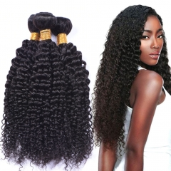 Kbeth 3 Bundles 9A Virgin Kinky Curly Peruvian Hair Weave Human Hair Bundle Deals