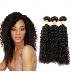 Kbeth 9A Human Virgin Indian Kinky Curly Hair Bundles Weave 3pcs/pack Natural Color