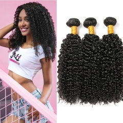 Kbeth 3 Bundles Malaysian 9A Kinky Curly Weave Human Hair Weave Virgin Malaysian Hair