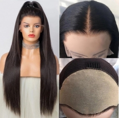 Fake Scalp Frontal Lace Wig 180 Density Straight Fake Scalp 13x6 Lace Front Invisible Knot Wig Brazilian human hair lace front wig