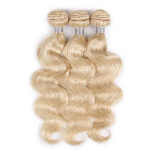 Body Wave 613 Blonde Human Hair Bundles With Closure Blonde 613 Color Brazilian Virgin Remy Body Human Hair Weave Bundle – Grade 12A -1 Piece/100g
