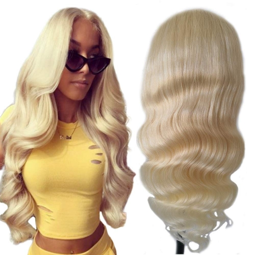 Kbeth Wholesale 613 Blonde 100% Human Hair Lace Front Wigs Body Wave Factory Price
