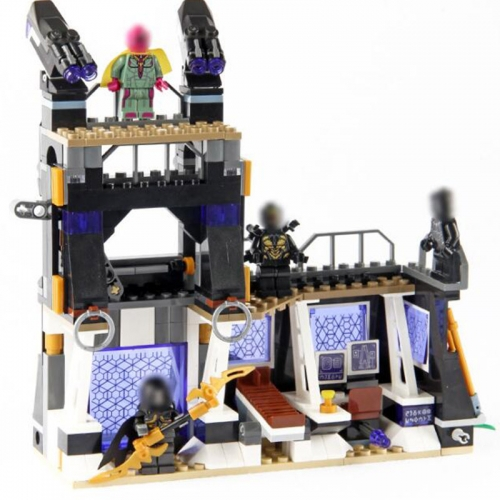 10838 super Hero Corvus Glaive Thresher Attack Black Panther Building Block 457pcs Bricks Toys Compatible Legoings 76103
