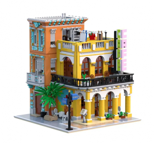 LR10002  Creator Cafe Havana Shining Street  View  Ship From China