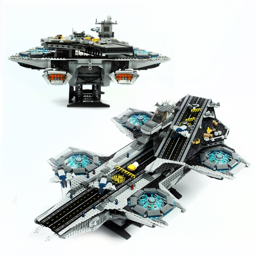 07043  Super Heroes The Shield Helicarrier Model   Ship From China 76042