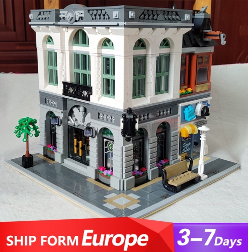 15001 2413PCS Creator Streetview series Brick Bank Building Blocks Toys 10251