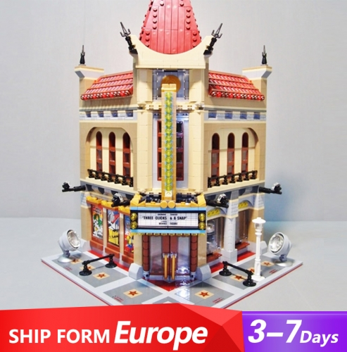 15006 2196PCS City Street View Creator Series Palace Cinema Building Blocks Toys 10232