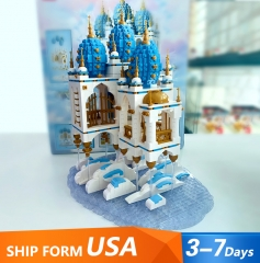 QL0959 2660 PCS Advanced Model Street View Series Sky Castle Building Blocks Toys