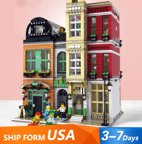 LR10005 4087PCS Street View Series The Shoes Store Building Blocks Toys