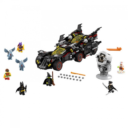 87045 1496PCS Super Hero Series The Ultimate Batmobile Building Blocks Toys 70917 Ship From China