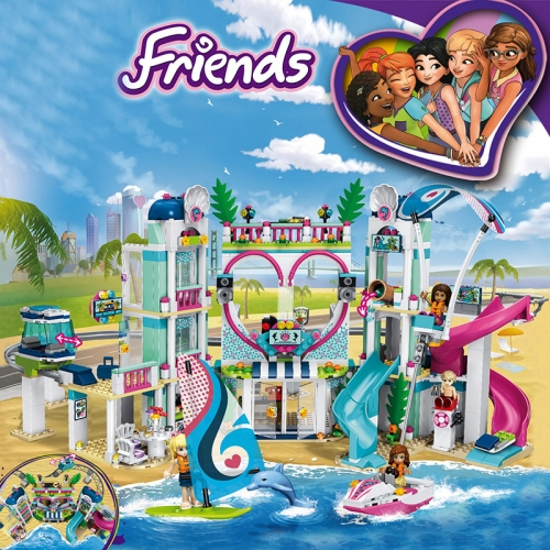86050 01068 1139PCS Friends Series Heartlake City Resort Building Blocks Toys 41347 Ship From China