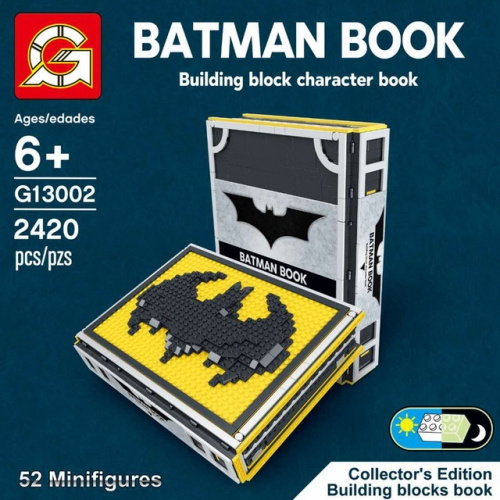 J13002 2420PCS Super heros series BATMAN BOOK Building Blocks Toys Ship From China